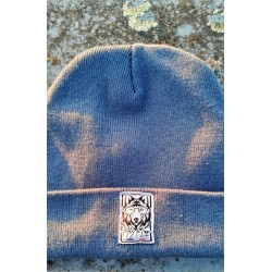 Bonnet à revers bleu articque